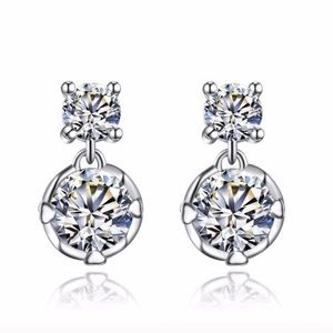 Swarovski Crystal Diamond Earrings